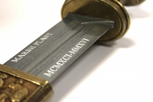 Personalised Bespoke Custom Engraved Gladius Sword